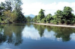 Abb. 12: Der Nam Chaung war flussaufwärts tiefer …
